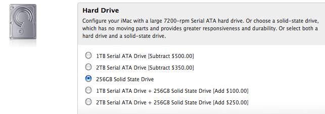 iMac HDD opció