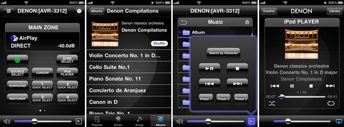 Denon iOS app