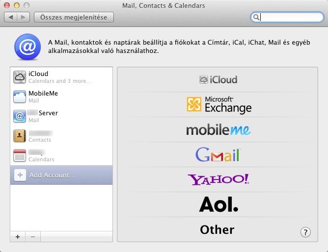 iCloud settings on Mac