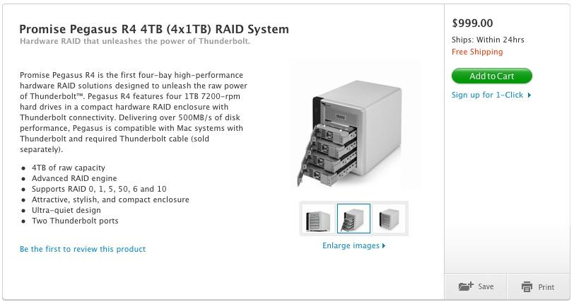 Promise Thunderbolt RAID System