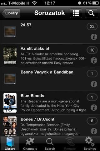 Plex iOS app