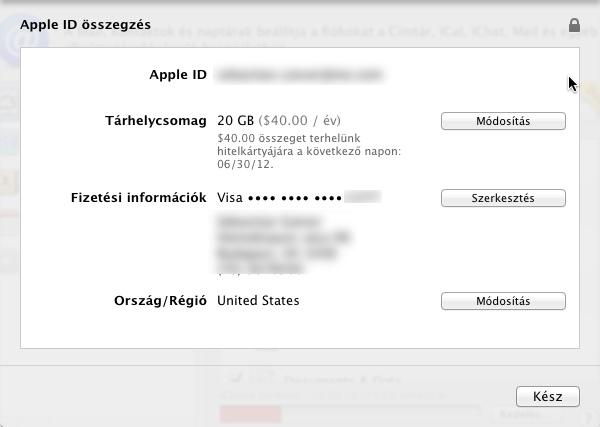 Apple ID iCloud alatt