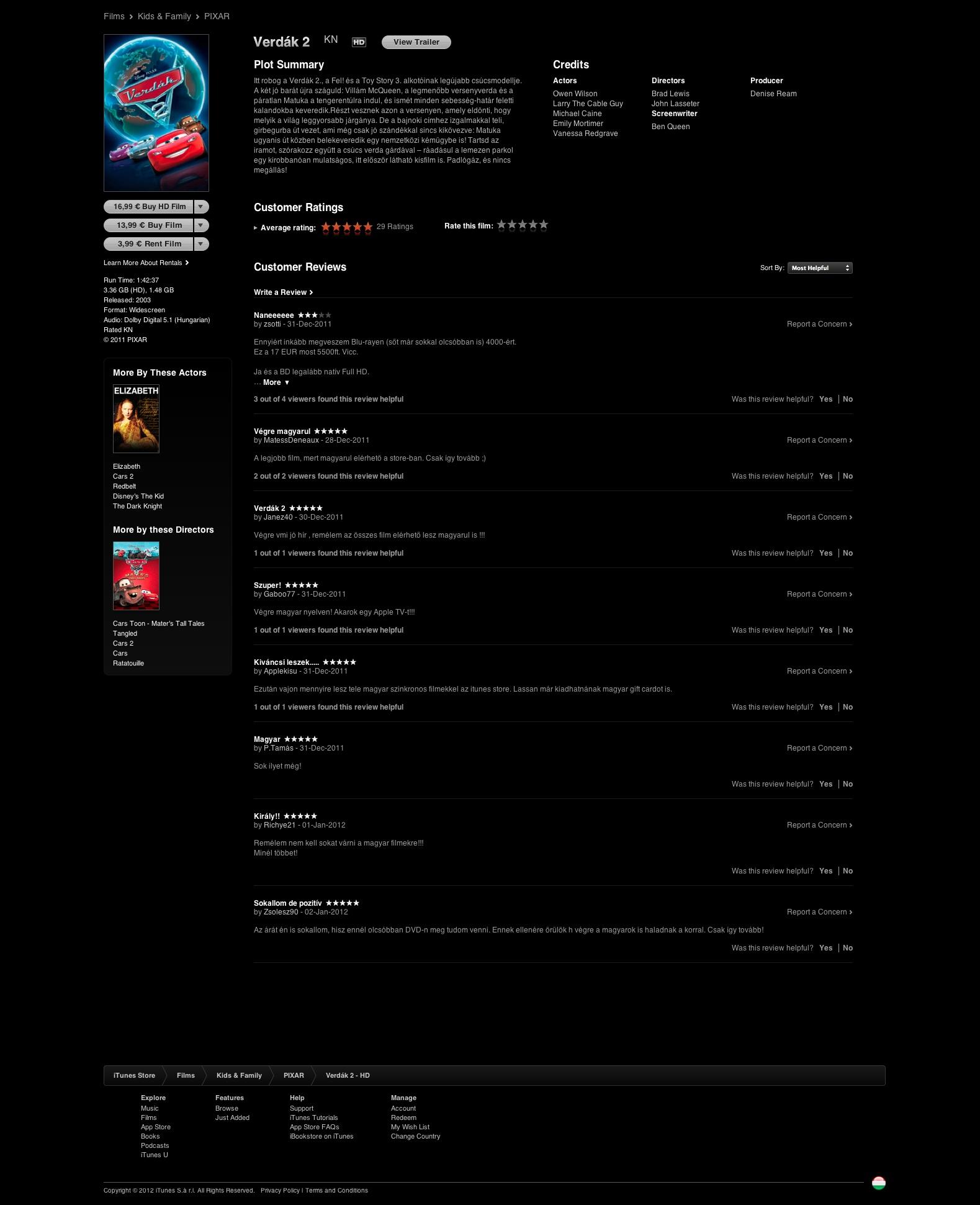 Verdák 2 magyarul az iTunes Store-ban