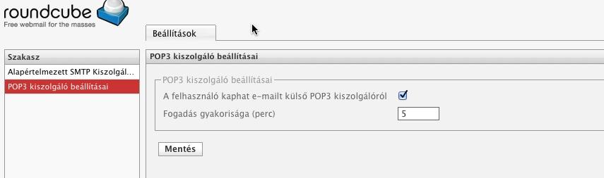 POP3 lekérdezés - Synology